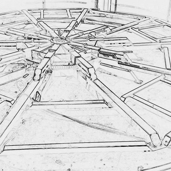 Schwerlast Drehbühne stilisiert